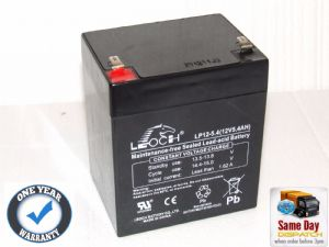 Leoch LP12-5.4 - 12volt 5.4ah Rechargeable AGM Battery